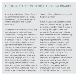 The Importance of People and Governance.